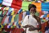 0737 Colorful Wisdom (Hrvoje Simich - gaZZda) Tags: man old flags colorful wisdom holy sadhu portrait beard lumbini nepal asia nikon nikond750 nikkor283003556 gazzda hrvojesimich
