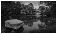A Rainy Day (Wayne Interessiert's) Tags: nikond750 sigmaartobjektive münsterland mill füchtelnermill landschaft landscape paysage wolken clouds nuages himmel sky ciel regen rain remuer monochrome bw blackwhite noirblancphoto wasserspiegelung waterreflexion réflexiondeau flussstever riverstever fleuvestever