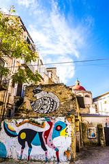 Piazzetta Ecce Homo - Palermo (fede_gen88) Tags: palermo sicilia sicily italia italy ballarò piazzetta eccehomo viacasaprofessa casaprofessa streetart colourful colours colors colorful blue sky sunny painted wall art