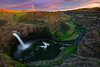 Rainbow Surprise [Re-edit] (pdxsafariguy) Tags: waterfall canyon palouse river washington landscape scenic sunset usa falls northwest palousefalls statepark rainbow horizontal cliff pacificnorthwest basalt tent tomschwabel
