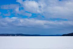 Frozen Lake (mobius2016) Tags: mackinaw island city winter frozen ice bridge sleeping bear dunes michigan