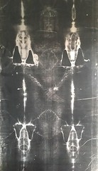 Replica of Shroud of Turin (giveawayboy) Tags: pilgrimage maryhelpofchristians church catholic tampa shroud shroudofturn burial cloth jesus