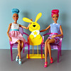 Three Easter bunnies    🐰 🐰 🐰 (Deejay Bafaroy) Tags: barbie mattel doll dolls puppe puppen pink rosa dreamtopia fairydoll feepuppe madetomove mtmbody blue blau turquoise türkis yellow gelb bubbletasticfairy seifenblasenfee redhead ghostchair chair chairs stuhl stühle louisghost 16 scale playscale miniature miniatur easterbunny osterhase easter ostern happyeaster froheostern 2018