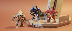 Sangheili Warriors (Elites) (iTomWalker) Tags: halo elites sangheili arbiter lego afol moc