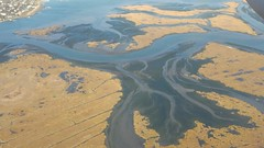 View of marshland flying above Newark airport (Kaemattson) Tags: marsh river delta newark airport new jersey york