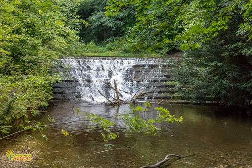 Small waterfall outside Bersham, Nr Wrexham North Wales.