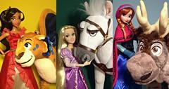 Princess Pals (honeysuckle jasmine) Tags: disney princess elena elenaofavalor skylar rapunzel tangled maximus anna frozen elsa queen sven doll dolls plush toys barbie