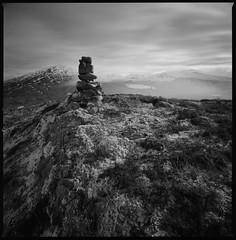Glac na Diollaid (Mark Rowell) Tags: rannochmoor corrour lochossian glacnadiollaid highlands scotland hasselblad 903 swc fuji acros 6x6 120 mediumformat bw bigstopper film
