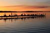 Watching the sunset at the Terrace (danielhast) Tags: madison lake mendota sunset terrace sky water people pier clouds lakemendota