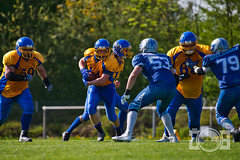 Backnang Wolverines VS Ostalb Highlanders (jan.boelstler) Tags: americanfootball americanfootballgermany green gras football snap sport tackle backnang ball