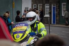 Police motorbike (barronr) Tags: england knaresborough rkabworks tourdeyorkshire yorkshire bathgatephotographer cycling motorbike police race