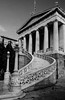 House of wisdom (Rabican7) Tags: athens greece library architecture structure building greek national downtown bw blackandwhite monochrome stairs columns doric