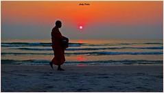 it's coming up…. (Jinky Dabon) Tags: fujifilmfinepixhs35exr thesun sun bythesea seashore easternhorizon sunrise monk outdoor
