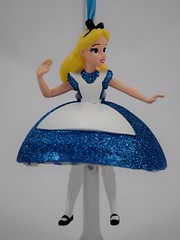 Disneyland Purchases - 2018-03-25 - 3D Alice Ornament - Hanging - Front View (drj1828) Tags: disneyland disneyparks ornament alice aliceinwonderland falling rabbithole glitter