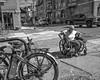 Chestnut Street, 2018 (Alan Barr) Tags: chestnutstreet philadelphia 2017 street sp streetphotography streetphoto blackandwhite bw blackwhite mono monochrome city candid people wheels fujifilm fuji x70