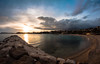 panorama (AzurTones_Photography) Tags: sky clouds ciels nuage soleil sun beach sand sable plage water sea mediterranean frenchriviera cotedazur méditerranée mer couchédesoleil sunset
