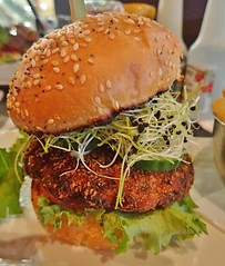 Salmon Burger, Turtle Jack, Mapleview Centre, Burlington, ON (Snuffy) Tags: food turtlejack mapleviewcentre burlington ontario canada
