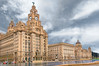Liver, Cunard and Port of Liverpool Buildings (Bob Edwards Photography - Picture Liverpool) Tags: liverbuilding cunard portofliverpool mdhc merseydocksharbourboard waterfront river mersey rain cloudy reflection architecture bobedwardsphotography buildings