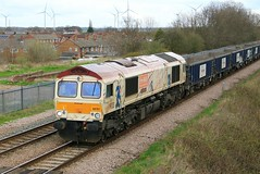 GBRF 66721 Harry Beck 16th April 2018 Thorne South (2) (asdofdsa) Tags: transport railway train locomotive loco thornesouth goods freight map harrybeck