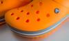 Crocs Crocband - Blazing Orange/ Slate Grey (M. Schirmer Berlin) Tags: orange naranja grau weis slategrey white crocs crocband flip sandale pantoffel clog oranje