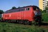 218 337  Lübeck  15.05.89 (w. + h. brutzer) Tags: lübeck eisenbahn eisenbahnen train trains deutschland germany railway lokomotive locomotive zug diesellok dieselloks 218 db webru analog nikon