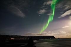 Kirkjufjara_aurora_L1090396 (nocklebeast) Tags: auroraborealis iceland kirkjufjarabeach nrd aurora stars ocean beach vik southcoast