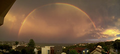 After the storm (WinRuWorld) Tags: sky clouds rainbow doublerainbow scenery view newcastle nsw newsouthwales australia storm weather rain outdoors scene naturalworld naturalphenomenon lightrefraction