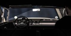 Dashboard lights. (jc.underwood) Tags: dashboard lights car person windshield classiccar musclecar chevrolet carseat mirror lastforever carcrash 3dlife man americanmusclecar selfie