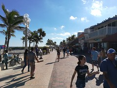 Cycling along Miami Beach was hard as it was busy.