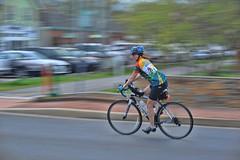 city rider (gwuphd) Tags: nikon 85mm f18 bicycle rider cyclist paning city