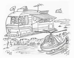 Camper Capture (rod1691) Tags: myart art sketchbook bw scifi grey concept custom car retro space hotrod drawing pencil h2 hb original story fantasy funny tale automotive illistration greyscale moonpies sketch sexy