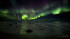 Green Sea (Joep10) Tags: auroraborealis snow ice norway lofoten green purple white landforms mountain nopeople noperson landscape northernlight