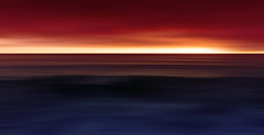 Tricolour (Bruus UK) Tags: porthleven cornwall dusk dark sea ocean marine seascape abstract minimal minimalseascape light sunset waves surf horizon firesky shore coast drama cornish cornwallliving outdoors