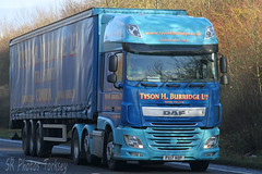 DAF XF Tyson H Burridge Ltd PX17 VOP (SR Photos Torksey) Tags: transport truck haulage hgv lorry lgv logistics road commercial vehicle freight traffic daf xf tyson burridge