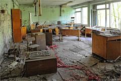 In a Pripyat School (Aad P.) Tags: chernobyl чорнобиль pripyat припять ukraine україна sovietunion cccp nuclearpowerplant radioactivity radiation urbex urbexphotography exclusionzone school classroom