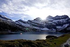 Little paradise (Carandoom) Tags: 2017 switzerland hiking lac water clouds sky sun mountain little paradise