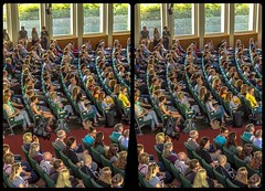 Audience in 3-D / CrossEye / Stereoscopy / HDRaw (Stereotron) Tags: audience people crowd saal publikum menschen vorlesung hörsaal freieuniversität university berlin dahlem europe germany deutschland crosseye crossview xview pair freeview sidebyside sbs kreuzblick 3d 3dphoto 3dstereo 3rddimension spatial stereo stereo3d stereophoto stereophotography stereoscopic stereoscopy stereotron threedimensional stereoview stereophotomaker stereophotograph 3dpicture 3dimage hyperstereo twin canon eos 550d yongnuo radio transmitter remote control synchron kitlens 1855mm tonemapping hdr hdri raw availablelight