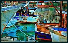 Il porto: colori e riflessi - Marzo-2018 (agostinodascoli) Tags: art digitalart colore fullcolor nikon nikkor sciacca porto sciaccamare texture agostinodascoli barche corde photoshop photopainting digitalpainting elaborazionidigitali creative popart