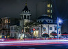 holy trinity cathedral (pbo31) Tags: bayarea california nikon d810 color march 2018 spring boury pbo31 sanfrancisco lightstream motion traffic vannessavenue pacificheights roadway church religion cathedral black dark night