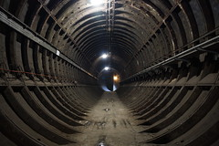 Tube Tunnel (steve_whitmarsh) Tags: london euston tunnel abandoned derelict station tube underground eustonstation
