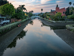 Venice Canals - Venice, California (mattybecks3) Tags: america ca cali california canals losangeles us usa unitedstatesofamerica venice goldenhour reflection water