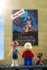 May the 4th be With You (that_brick_guy) Tags: d7200 dslr nikkor nikon 18g 35mm lens prime primelens up close closeup macro toyphotography photography toy puppy minifigure minifig legominifigure legominifig sun sky dog couple girl boy promo poster cinema legostarwars lego day 4th fourth may maythefourthbewithyou maythe4thbewithyou may4th starwarsday wars star starwars