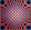 Stri-per by Vasarely 1973-74 071a (Andras, Fulop) Tags: vasarely acryl canvas painting museum exhibition artwork opart nikon p7700