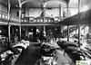 tm_6898_Bibliotekshuset i Tidaholm 1898 (Tidaholms Museum) Tags: positiv svartvit bibliotekshus interiör 1898 utställning industri slöjd balkong läktare