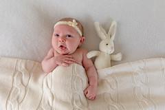 Ack - I Think I'm Allergic to Rabbit Fur ! (Jill Clardy) Tags: baby girl infant newborn bunny bed headband alert 201804029l8a0223edit rabbit 365the2018edition 3652018 day92365 02apr18