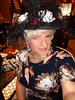 It's A Fine Line Between Too Gaudy And Not Gaudy Enough (Laurette Victoria) Tags: bling accessories hat necklace woman laurette dress hotel milwaukee pfisterhotel