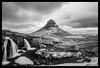 Kirkjufell under clouds (Lionel Davoust) Tags: brei hdr iceland kirkjufell kirkjufellsfoss snæfellsnes breathtaking clouds desolate ice landmark landscape longexposure mountain snow