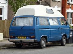 1985 Volkswagen Caravelle CL Camper Van (Neil's classics) Tags: vehicle van camper volkswagen caravelle transporter t3 t25 vw camping motorhome autosleeper motorcaravan rv caravanette kombi mobilehome dormobile 1985
