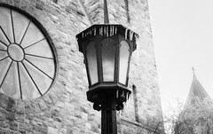 A Stark Spring (marylea) Tags: quote scripture withquotes blackwhite blackandwhite bw apr15 2018 lamppost lamp stthomastheapostlecatholicchurch stthomasaa stthomastheapostlechurch stthomas catholic church romancatholic architecture ice storm spring icestorm icicles stark monochrome stone stonework faith