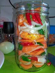 Pickled spicy carrots in a mason jar (serge.katzmann) Tags: carrots mason jar spi pi
